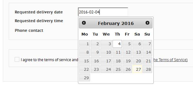 Kalendarzyk w polu typu data dla Prestashop